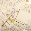 Background from sparse old envelopes — Stock Photo