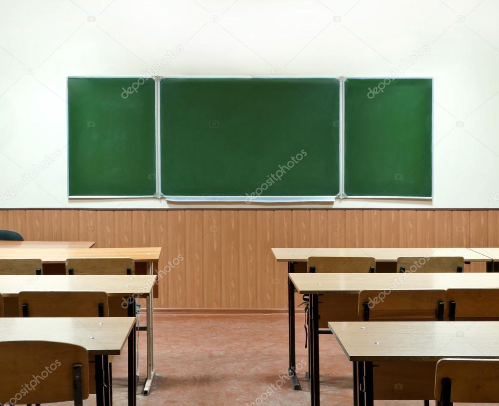 class kamer met een schoolraad en school bureaus stockfoto tanchic 33527019. Black Bedroom Furniture Sets. Home Design Ideas