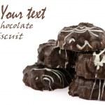Chocolate thin biscuits — Stock Photo