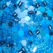 Stock Photo: Background of blue beads and sequins
