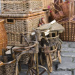 Baskets and wares of handwork for sale at market — Stock Photo #33659057