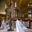Hall of restaurant is in ancient style — Stock Photo