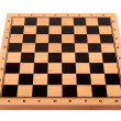 Empty chess board on a white background — Stock Photo