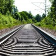 Railway bottom view — Stock Photo