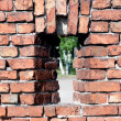 Window into a brick wall — Stock Photo