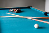 Two cue and balls — Stock Photo