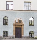 Front door with Windows — Stock Photo