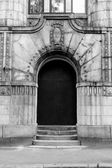 Entrance door from the street — Stock Photo