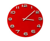 Red office clock — Stock Photo