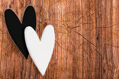 Black and white hearts — Foto Stock