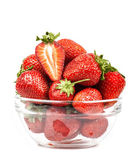 Strawberry in a transparent piala isolated — Stock Photo