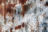 Chipped paint rusty metal background — Stock Photo