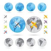 Viajar de avião de série — Vetorial Stock
