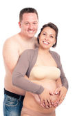 Happy smiling pregnant couple — Stock Photo