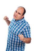 Furious angry aggressive man — Stock Photo