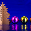 Christmas tree and balls — Stock Photo #12888258