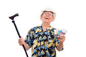 Happy wealthy senior man — Stock Photo
