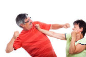 Couple fighting — Stock Photo
