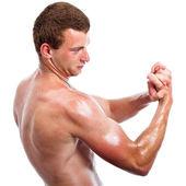 Sports man biceps — Stock Photo