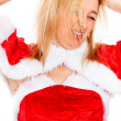 Crazy female Santa — Stock Photo #14030665
