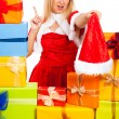 Royalty-Free Stock Photo: Funny female Christmas Santa