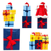Christmas gift boxes collection — Stock Photo