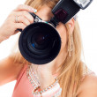 Female photographer - Foto Stock
