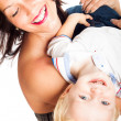 Stock Photo: Happy womplaying with child boy