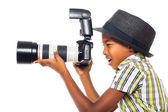 Child photographer — Stock Photo
