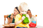 Child healthy eating — Stock Photo