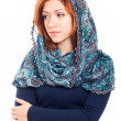 Foto de Stock  : Sad womin headscarf