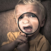 Scary child — Stock Photo