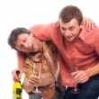 Drunken friends - Stock Photo
