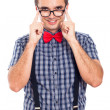 Nerd man in eyeglasses - Foto de Stock