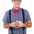 Stockfoto: Ecstatic nerd man