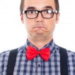 Scared nerd man — Stock Photo