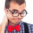 Disappointed nerd man — Stock Photo #18299655