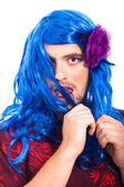 Bizarre transvestite man — Stock Photo