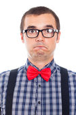 Scared nerd man — Stock Photo