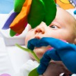 Detail of baby boy in bed — Stock Photo #19413311