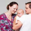 Happy family with baby boy — Stock Photo #19414471