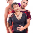 Funny transvestite portrait — Stock Photo