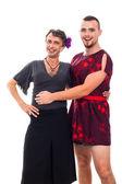 Happy transvestites portrait — Stock Photo