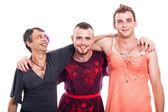 Happy transvestite group — Stock Photo