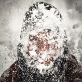 Snow storm — Zdjęcie stockowe