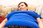 Obese senior woman — Stock Photo