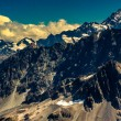 Rocky landscape of Southern Alps in New Zealand — Stock Photo