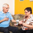 Stock Photo: Seniors measuring blood pressure