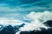 Blue sky and mountains in New Zealand — Stock Photo