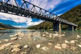 Alpine bridge in New Zealand — Stock Photo